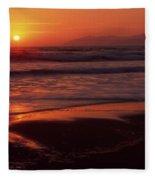 Pismo Beach Sunset Fleece Blanket