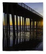 Pismo Sunset Wharf Fleece Blanket