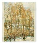 pissarro19 Camille Pissarro Fleece Blanket