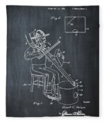 Pitch Fork Fiddle And Drum Patent 1936 - Chalk Fleece Blanket