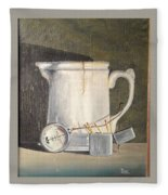 Pitcher, Meter And Matches Still Life Fleece Blanket