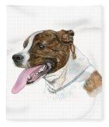 Pittbull Dog Fleece Blanket
