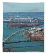 Pittsburg City Skyline Fleece Blanket