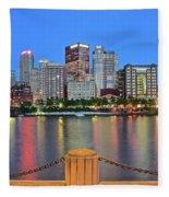 Pittsburgh At Waters Edge Fleece Blanket
