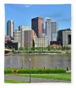 Pittsburgh From Just Outside Pnc Park Fleece Blanket