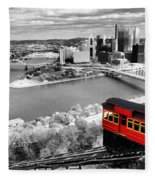 Pittsburgh From The Incline Fleece Blanket
