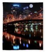 Pittsburgh Full Moon Fleece Blanket