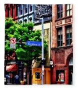 Pittsburgh Pa - Liberty Ave And Smithfield Street Fleece Blanket