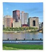 Pittsburgh Pa Panoramic Fleece Blanket