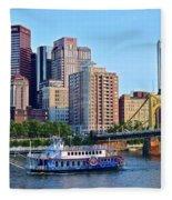 Pittsburgh River Cruise  Fleece Blanket
