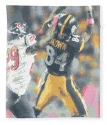 Pittsburgh Steelers Antonio Brown 2 Fleece Blanket