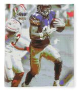 Pittsburgh Steelers Antonio Brown 3 Fleece Blanket