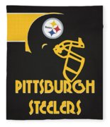 Pittsburgh Steelers Team Vintage Art Fleece Blanket