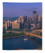 Pittsburgh,pennsylvania Skyline Fleece Blanket