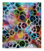 Pixelated Cubes Fleece Blanket