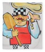 Pizza Chef Fleece Blanket