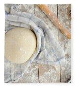 Pizza Dough  Fleece Blanket