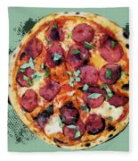 Pizza - The Corleone Special Fleece Blanket