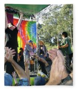 Pk Leads Jefferson Starship Photo Fleece Blanket