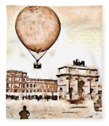 Place Du Carrousel 1878 Fleece Blanket