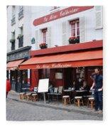 Place Du Tertre In Paris Fleece Blanket