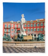 Place Massena Of Nice In France Fleece Blanket