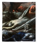 Plague In Marseilles, 1720 Fleece Blanket