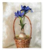 Plain Blue Iris Fleece Blanket