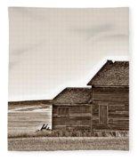 Plains Homestead Sepia Fleece Blanket