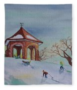Plaisirs D'hiver Au Parc Macdonald Gardens Fleece Blanket