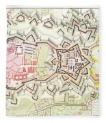Plan Of Part Of The City And Citadel Of Strasbourg Fleece Blanket