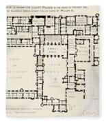Plan Of Principal Floor Of Hampton Fleece Blanket