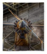 Spirit Of St Louis Propeller Airplane Fleece Blanket