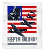 Planes -- Keep 'em Rolling Fleece Blanket