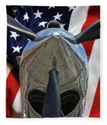 Planes Of Fame P-40c Warhawk Fleece Blanket