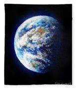 Planet Earth. Space Art Fleece Blanket