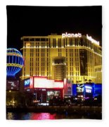 Planet Hollywood By Night Fleece Blanket