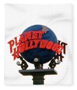 Planet Hollywood Sign Vegas Fleece Blanket