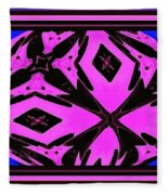 Planet Of The Aliens Abstract Fleece Blanket