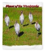 Planet Of The Woodstorks 2 Fleece Blanket