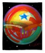 Planet Texas Fleece Blanket