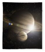 Planetary Ring Fleece Blanket