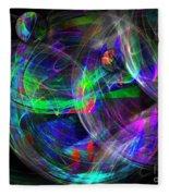 Planets Of Vega Fleece Blanket