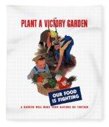 Plant A Victory Garden  Fleece Blanket
