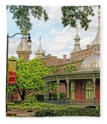 Plant Hall University Of Tampa Fleece Blanket