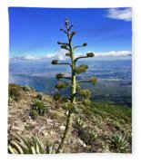 Plant On Volcano Slope Fleece Blanket