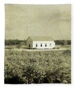 Plantation Church - Sepia Texture Fleece Blanket