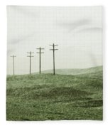 Plasticine Fields Fleece Blanket