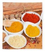 Plates Of Spices  Fleece Blanket