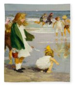 Play In The Surf Fleece Blanket